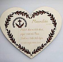 Dekorácie - Srdiečko Prvé sväté prijímanie darček - 10711535_