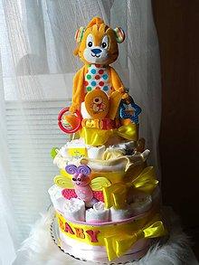 Detské doplnky - Plienkova torta - 10710198_