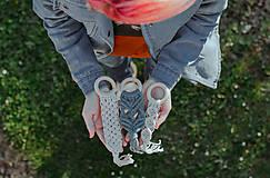Detské doplnky - macrame detské hryzadlo - 10711599_