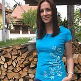 Tričká - Tričko folk V - tyrkysová - 10711499_