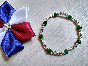 Náramky - Zeleno-strieborný - 10711183_