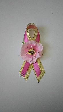 Pierka - Ružovo zlaté pierko pre rodičov (Ružová) - 10709310_