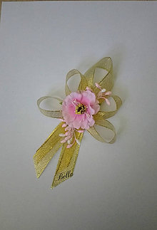 Pierka - Pierko pre rodičov zlato ružové (Ružová) - 10709334_