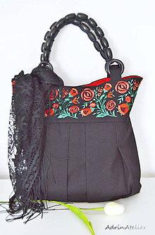 Veľké tašky - vyšívaná taška - 10710385_
