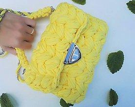 Kabelky - Háčkovaná taška - sunshine - 10709341_