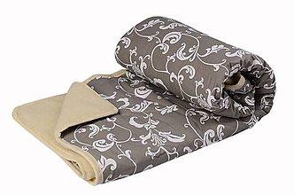 Úžitkový textil - Skvela deka z ovčej vlny sivá - 10711454_
