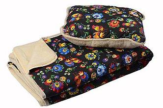 Úžitkový textil - Deka z ovčej vlny tmavá - 10711495_