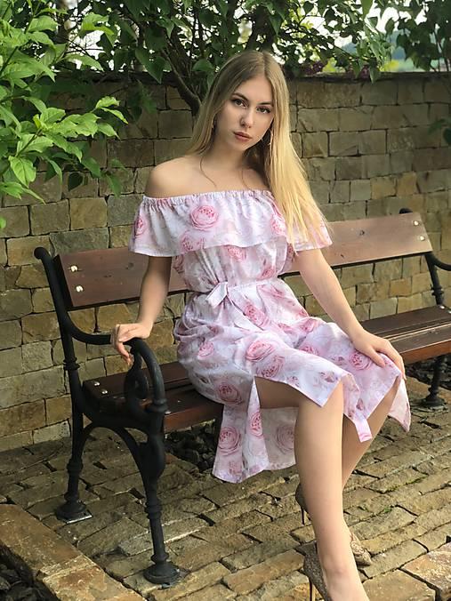 Letné šaty s volánom ROSE COLLECTION  ( pôvodná cena 59 € )