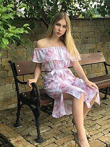 Šaty - Letné šaty s volánom ROSE COLLECTION - 10710939_