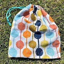 Úžitkový textil - Zero Waste Rôznostranné vrecúško (Bodky) - 10710333_