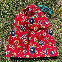 Úžitkový textil - Zero waste vrecúško (Kvietky - väčšie) - 10710588_