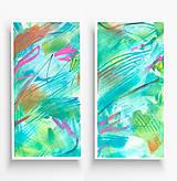 Obrazy - abstraktné obrazy - diptych - 10711716_