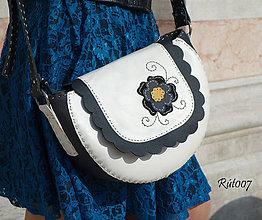 Kabelky - Kožená kabelka Black Rose - 10710605_