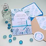Papiernictvo - Modré vetvičky - oznámenie - 10708885_