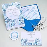 Papiernictvo - Modré vetvičky - oznámenie - 10708886_