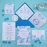Papiernictvo - Modré vetvičky - oznámenie - 10708888_