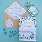Papiernictvo - Modré vetvičky - oznámenie - 10708889_