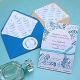 Papiernictvo - Modré vetvičky - oznámenie - 10708890_