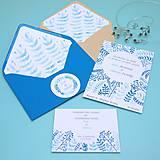 Papiernictvo - Modré vetvičky - oznámenie - 10708891_