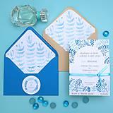 Papiernictvo - Modré vetvičky - oznámenie - 10708893_