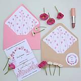 Ružové kvety - oznámenie
