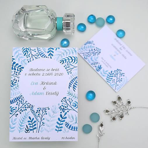 Modré vetvičky - oznámenie