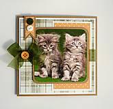 Papiernictvo - Pohľadnica s mačiatkami - 10710770_