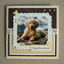 Papiernictvo - Pohľadnica so šteniatkom - 10711062_