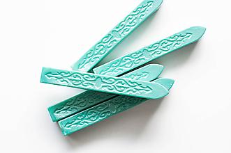 Suroviny - Pečatný vosk bez knôtu (Tyrkysová) - 10711745_