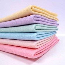 Textil - Mix 6tich pastelových FILC štvročekov 30x30cm - 10710515_