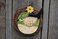 Dekorácie - Vtáčik vo venčeku č. 98 - 10709453_