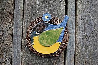 Dekorácie - Vtáčik vo venčeku č. 94 - 10709435_