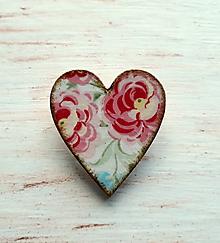 Odznaky/Brošne - brošňa ruže - 10711666_