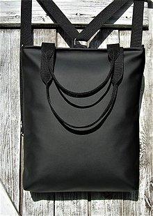 Batohy - backpack 3in1-  basic black - Batoh & taška cez rameno - 10710365_