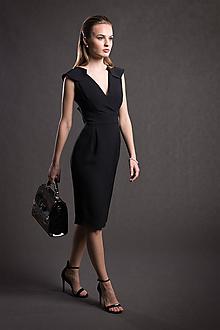 Šaty - VÝPREDAJ Hodvábne šaty s volánom - 10711433_