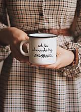 Nádoby - Smaltovaný hrnček - Ach, tie slovenské čaje - 10710083_