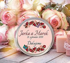 Darčeky pre svadobčanov - Svadobná magnetka - 10711826_