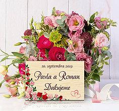 Darčeky pre svadobčanov - Svadobná magnetka - 10713761_