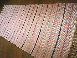 Úžitkový textil - tkany koberec ruzovy - 10713103_