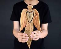 Dekorácie - Anjel so srdcom - 10712753_