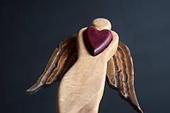 Dekorácie - Anjel so srdcom - 10712766_