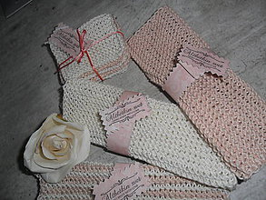 Úžitkový textil - Uteráčiky+ odličovacie tampóny- sada. - 10712817_