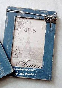 Rámiky - vintage rámiky v modrej - 10712568_