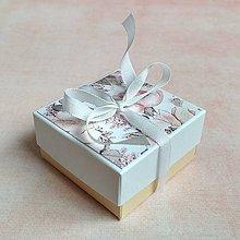 Obalový materiál - Krabička darčeková kvety - 10714097_