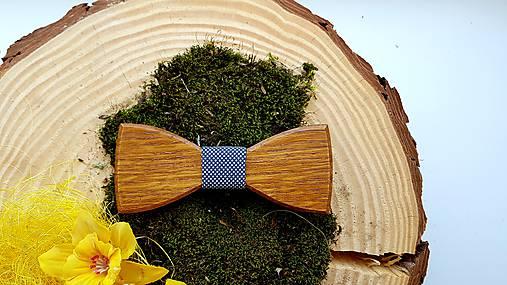 Drevený motýlik  (Drevený motýlik + manzetové gombíky + masívna darčeková krabička)