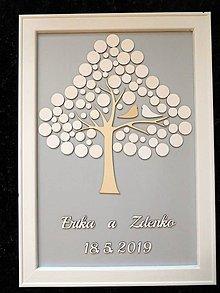 Dekorácie - svadobná kniha hostí/drevený strom 29 - 10712349_