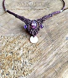 Náhrdelníky - Ametystová víla s perleťou - 10712278_