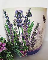 Nádoby - Obal na kvetináč - levanduľkový II. - 10713818_
