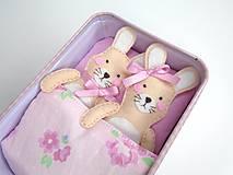 Hračky - Rozprávková krabička (Zajačiky) - 10712122_