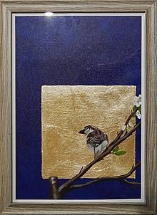 Obrazy - Vrabček (verzia malá) - 10713139_